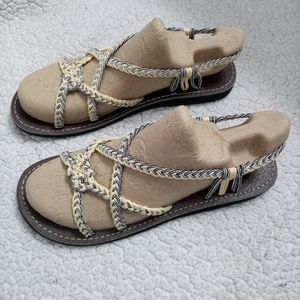 NWOT rope sandals size 8